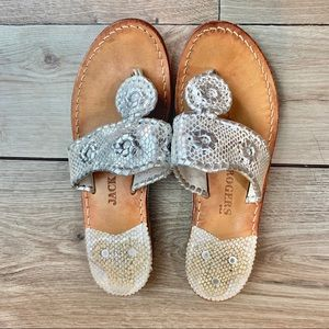 Jack Rogers | Silver Strap | Size 6